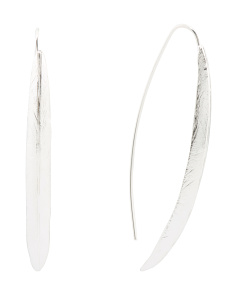 Made In Israel Sterling Silver Linear Earrings