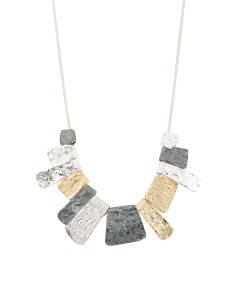 Made In Israel Tri Tone Sterling Silver Necklace