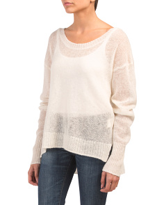 Mohair Scoopneck Sweater