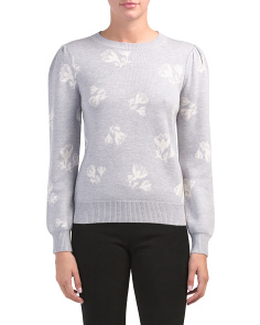 Floral Jaquard Sweater