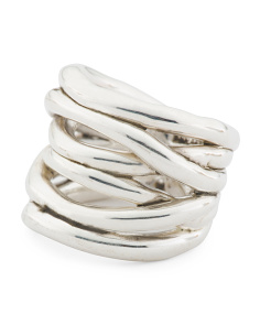 Made In Israel Sterling Silver Open Highway Ring