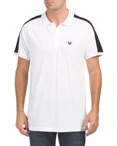 Short Sleeve Raglan Panel Polo
