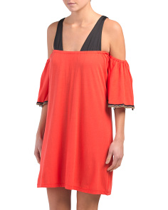 Pima Cotton Salsa Mini Cover-up
