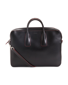 Leather Audrey Caddy Laptop Bag