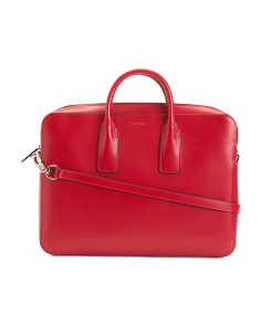 Audrey Cadee Leather Laptop Bag
