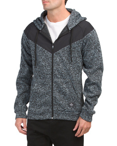 Raglan Fleece Zip Up Hoodie