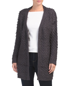 Textured Boucle Long Cardigan