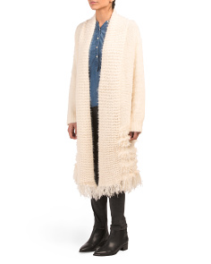 Textured Fringe Duster Cardigan