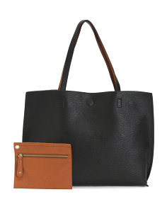 Reversible Tote With Detachable Wristlet