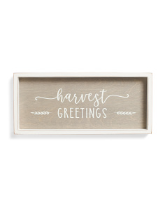 Harvest Greetings Framed Wall Sign