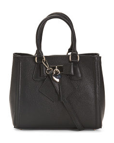 Made In Italy Leather Bow Satchel