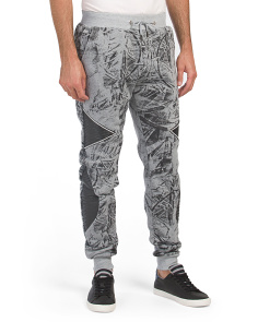 Printed Fleece Joggers
