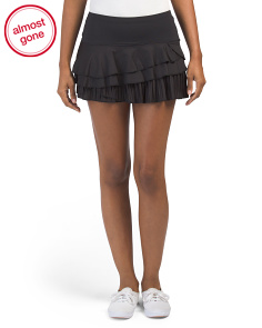 Rally Pleat Tiered Skirt