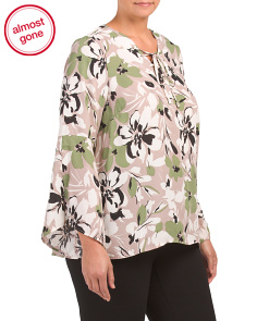 Plus Dawn Bell Sleeve Blouse