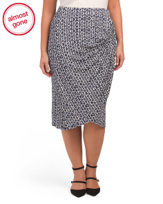 Plus Reiley Side Gather Skirt