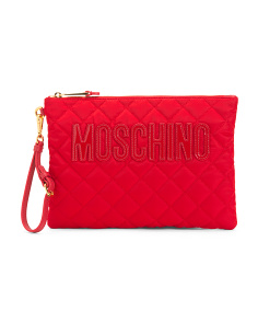 Made In Italy Quilted Pouch