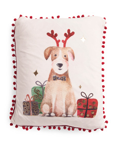 14x18 Velvet Rufus Christmas Pillow
