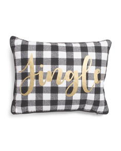 14x18 Metallic Jingle Plaid Pillow