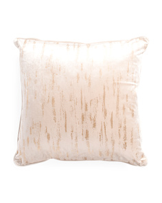 24x24 Oversized Velvet Embroidered Pillow