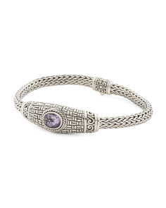 Made In Indonesia 925 Amethyst Tulang Naga Bracelet