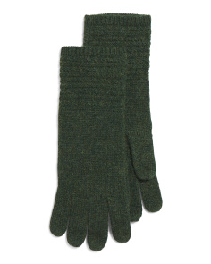 Baby Cable Knit Wool Blend Gloves