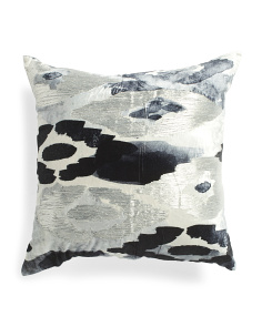Made In India 22x22 Velvet Watercolor Pillow