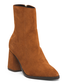 Made In Europe Zip Suede Booties