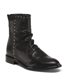 Made In Italy Flat Stud Boots
