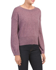 Cashmere Balloon Sleeve Sweater