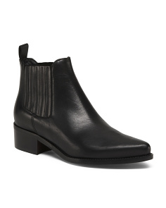 Made In Italy No Stars Leather Booties