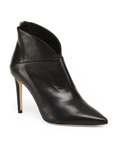 Made In Italy Stiletto Leather Dress Booties