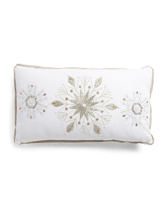 Made In India 14x24 Chambray 3 Flakes Pillow
