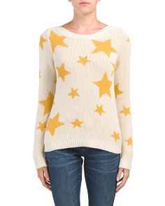 Pullover Sweater With Stars