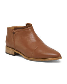 Made In Italy Leather Ankle Booties