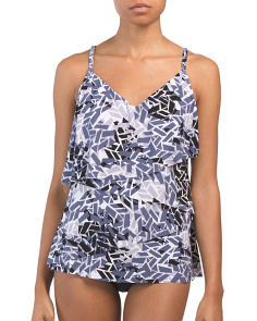 Printed Million Pieces Chloe Tankini Top