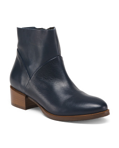 Made In Italy Leather Booties