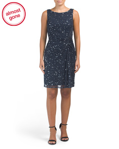 Petite All Over Beaded Sheath Dress