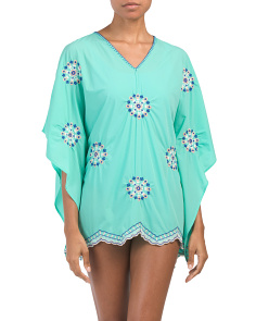 Bali Seas Embroidered Swim Cover-up