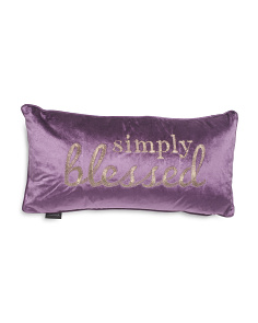 12x24 Simply Blessed Velvet Pillow