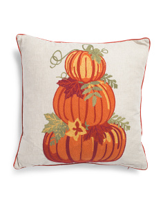 20x20 Pumpkin Stack Pillow