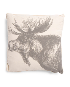 20x20 Reversible Moose Pillow