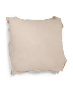 Made In India 26x26 Luxury Euro Linen Pillow