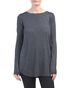 Rounded Hem Pullover Sweater