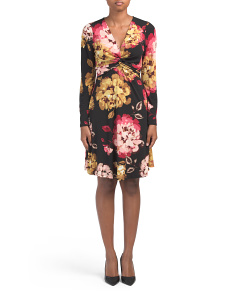 Twist Fit And Flare Floral Dress
