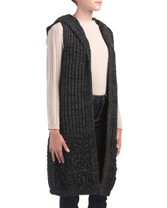 Made In Italy Textured Knit Cardigan