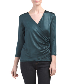 Drape Front Crossover Top