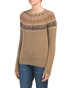 Made In Italy Crew Neck Fair Isle Sweater