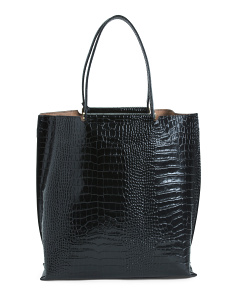 Made In Italy Crocco Leather Tote