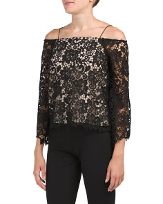 Prena Cold Shoulder Lace Top