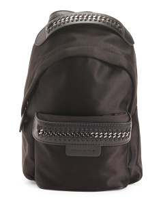 Made In Italy Falabella Go Mini Satin Backpack